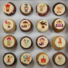 Cupcakes «clown» pour anniversaire