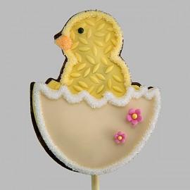 """Biscuit """"Poussin dans l'oeuf"""" de Pâques"""