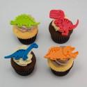 Cupcakes avec pastilles thématiques diverses pour anniversaire d'enfants