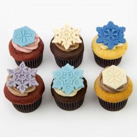 Les Cupcakes de Noël - Flocons