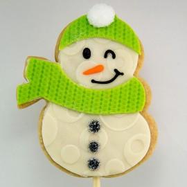 Biscuit de Noël : Le bonhomme de neige au foulard