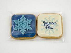 Biscuit de Noël : le duo «Joyeuses Fêtes»