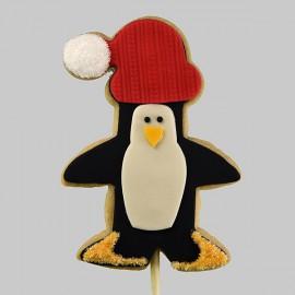 Biscuit Pingouin de Noël avec sa tuque