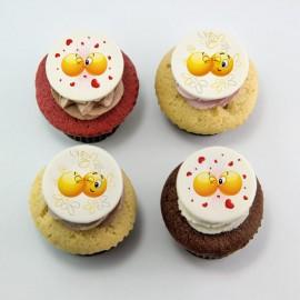 Cupcakes à motifs de la St-Valentin : émoticons