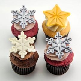 Les Cupcakes de Noël Glamour - Étoiles et flocons