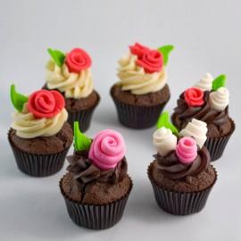Cupcakes de la St-Valentin - boutons de rose