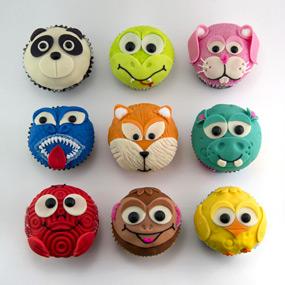activité de décoration de cupcakes animaux.