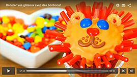 tutorial video Décorer vos gâteaux avec des bonbons!
