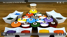 tutorial video cupcakes en boules de billard