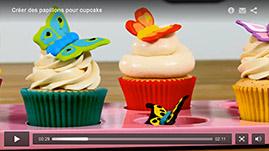 tutorial video Créer des papillons pour cupcake
