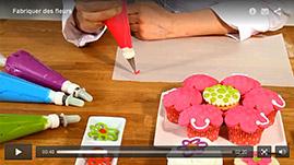 tutorial video Fabriquer des fleurs en glace royale en en fondant