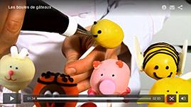 tutorial video décorer des cake pop (boules de gâteaux)