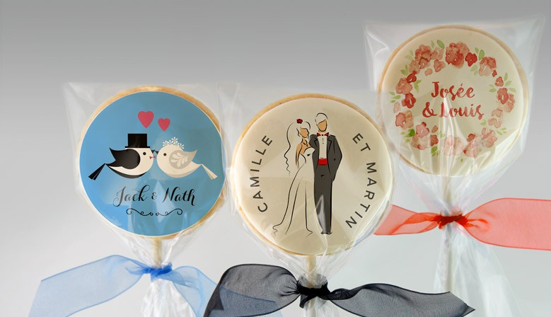 Biscuits de mariage personnalisés