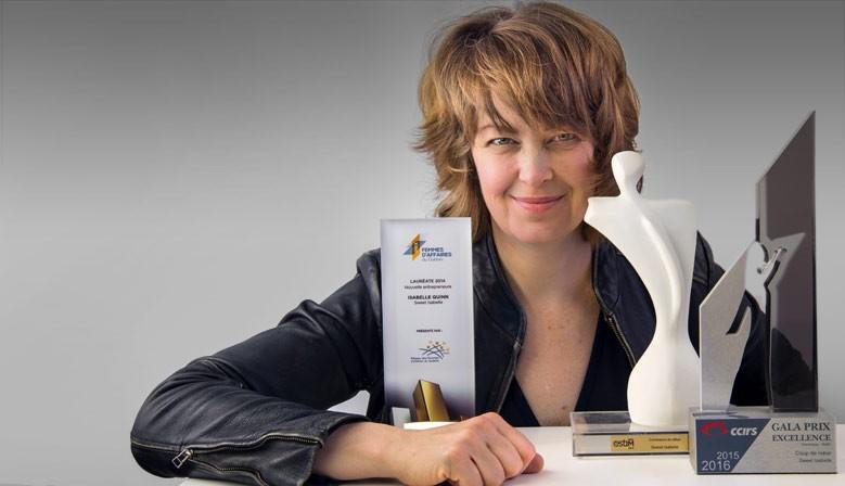 Isabelle Quinn, lauréate du prix ESTim 2015 catégorie commerce de détail