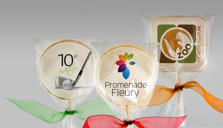 Cadeaux corporatifs : biscuits et cupcakes personnalisés avec logo imprimé avec des encres comestibles