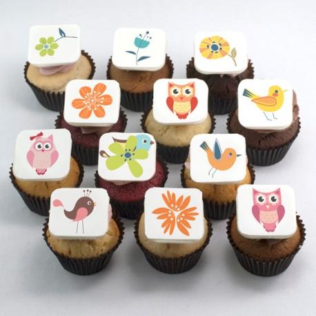 Cupcakes à motifs pour la Fête des Mères