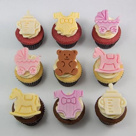 Cupcakes «bébés» pour baptême ou shower