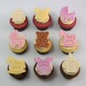 «Baby» cupcakes for birth, baptism or baby shower