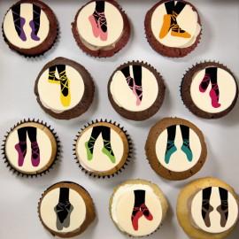 Cupcakes «bellerines» pour anniversaire