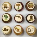 """Western"" cupcakes for themed birthday party"