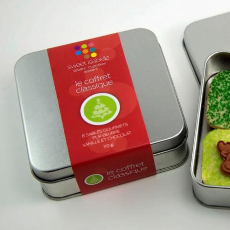 """""""Coffret Classique"""" : Christmas 8 Shortbread small Box"""