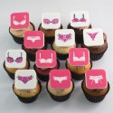 Valentine Cupcakes with women silhouette and lingerie