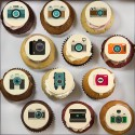 Cupcakes «camera» pour anniversaire thématique