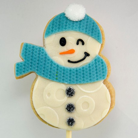 Christmas Cookie: The Snowman with scarf