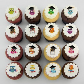 Cupcakes à motifs de graduation