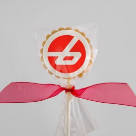 Branded corporate cookies : Pure butter shortbread with edible printing on marshmallow fondant