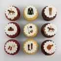 """Horse"" cupcakes for a birthday party or an equestrian event"