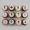 Les cupcakes d'Halloween à motifs pour enfants