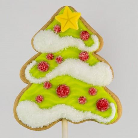 Snowy Christmas Tree Cookie