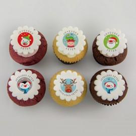 Les cupcakes «Joyeuses Fêtes»