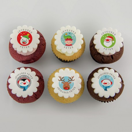 Happy Holidays illustration Cupcakes