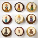 Nativity scene characters illustrated Cupcakes