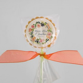 Personalized Wedding Cookies with Edible Impression
