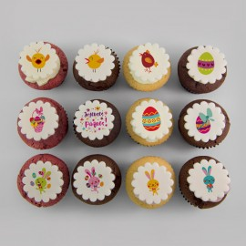 Easter cupcakes with lil' Cadbury eggs