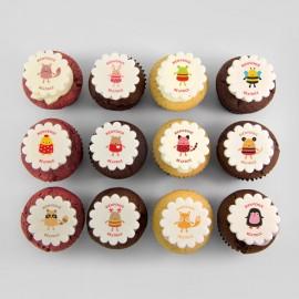 Cupcakes «toutous» pour anniversaire, naissance, shower de bébé ou baptême