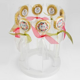 Wedding Cookies with Edible Impression