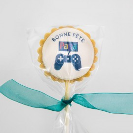 Personalized gaming Father's Day cookie