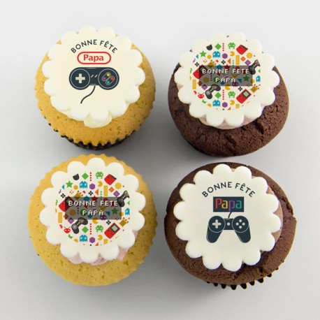 Happy Father's Day gaming cupcakes