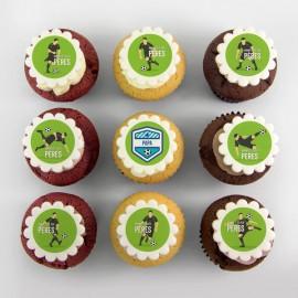 Cupcakes personnalisés à motifs de soccer pour la Fête des Pères