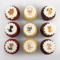 Cupcakes «chats et chiens» pour anniversaire