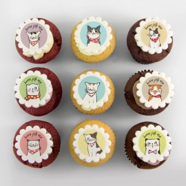 """Cats"" cupcakes for birthday party"