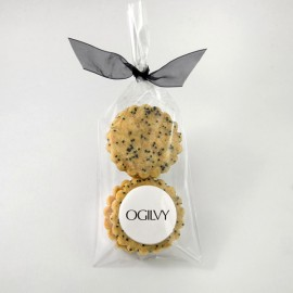 Paquet de 4 sablés avec personnalisation sur pâte de guimauve