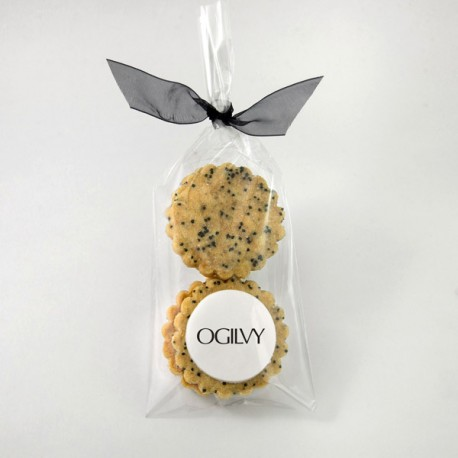 4-pack of personalized shortbreads with edible printing
