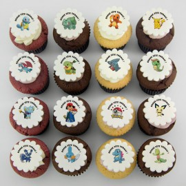 Pokemon theme cupcakes