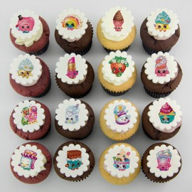 Shopkins theme cupcakes
