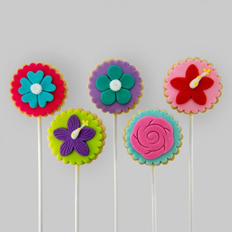 """""""Flower"""" Thrifty Cookies for birthday gift"""